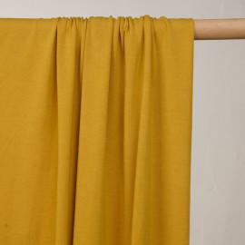 Tissu jersey cupro jaune moutarde  - pretty mercerie - mercerie en ligne