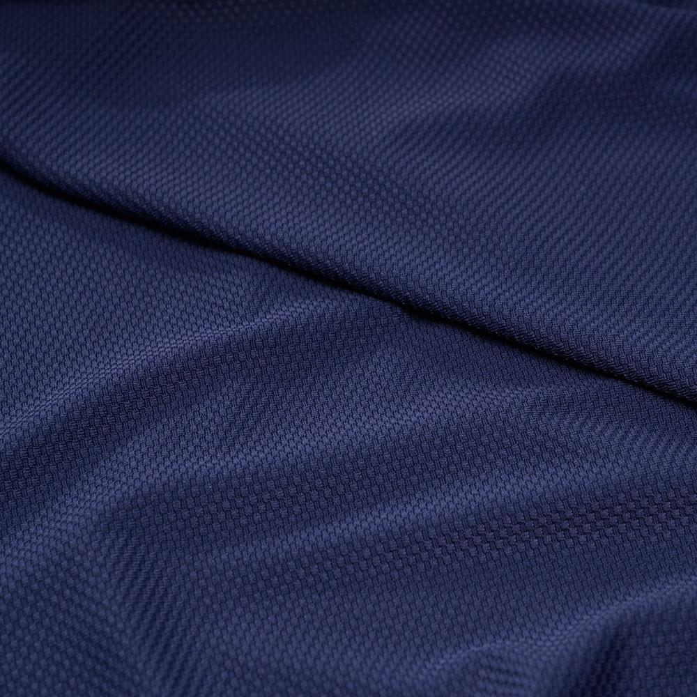 Tissu maillot de bain nid d'abeille bleu profond - pretty mercerie - mercerie en ligne