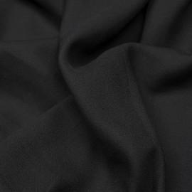 Tissu crêpe proviscose noir | pretty mercerie | mercerie en ligne