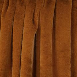 Tissu fausse fourrure caramel - pretty mercerie - mercerie en ligne