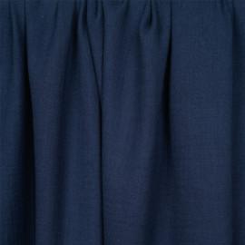 tissu double gaze de coton bleu insignia  - pretty mercerie - mercerie en ligne