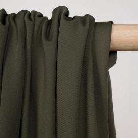Tissu de sport stretch respirant kaki - pretty mercerie - mercerie en ligne