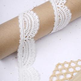 Ruban guipure blanc cassé à motif éventail gatsby  - pretty mercerie - mercerie en ligne