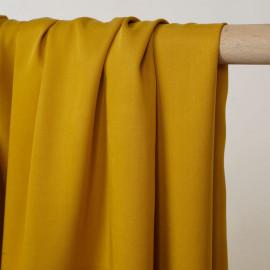 Tissu tencel sergé lemon curry - pretty mercerie - mercerie en ligne