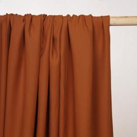Tissu tencel sergé burnt orange - pretty mercerie - mercerie en ligne