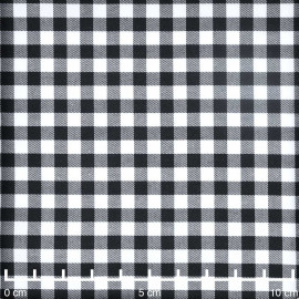 Tissu coton stretch motif vichy tissé noir et blanc |Pretty mercerie | Mercerie en ligne