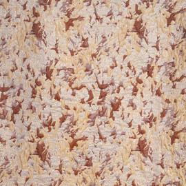 Tissu jacquard vanille à motif abstrait argile et fil lurex or - Pretty mercerie - mercerie en ligne