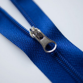 Fermeture éclair séparable bleu électrique