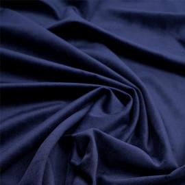 Tissu velours ras bleu marine  - pretty mercerie - mercerie en ligne