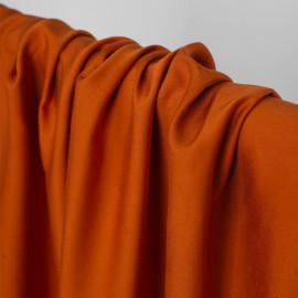 Tissu Tencel orange abricot satiné - pretty mercerie - mercerie en ligne