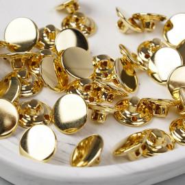 Bouton métal à queue doré 15 mm - pretty mercerie - mercerie en ligne