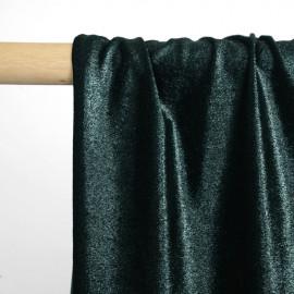 Tissu jersey velours irisé vert foncé - pretty mercerie - mercerie en ligne
