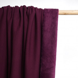 Tissu sweat gratté figue | Pretty Mercerie | Mercerie en ligne