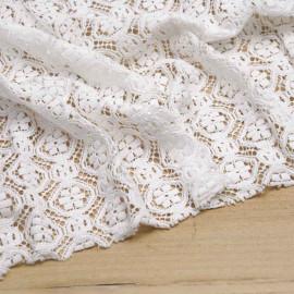 Tissu guipure gipsy blanc cassé | Pretty Mercerie | mercerie en ligne