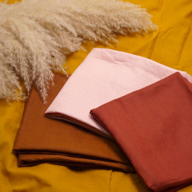 Tissu lin et viscose rose blush | Pretty Mercerie | mercerie en ligne