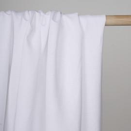 Tissu lin et viscose blanc  - pretty mercerie - mercerie en ligne