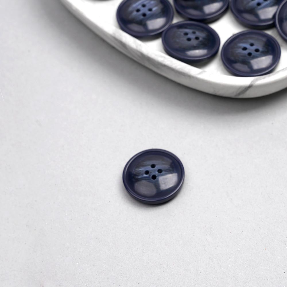 Bouton bleu marine marbré 27mm | Pretty Mercerie | Mercerie en ligne