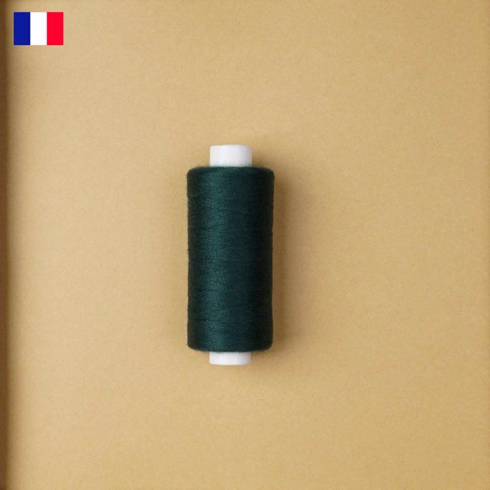 Fil à coudre vert foncé haute ténacité 500 m | fabrication française | pretty Mercerie | Mercerie en ligne