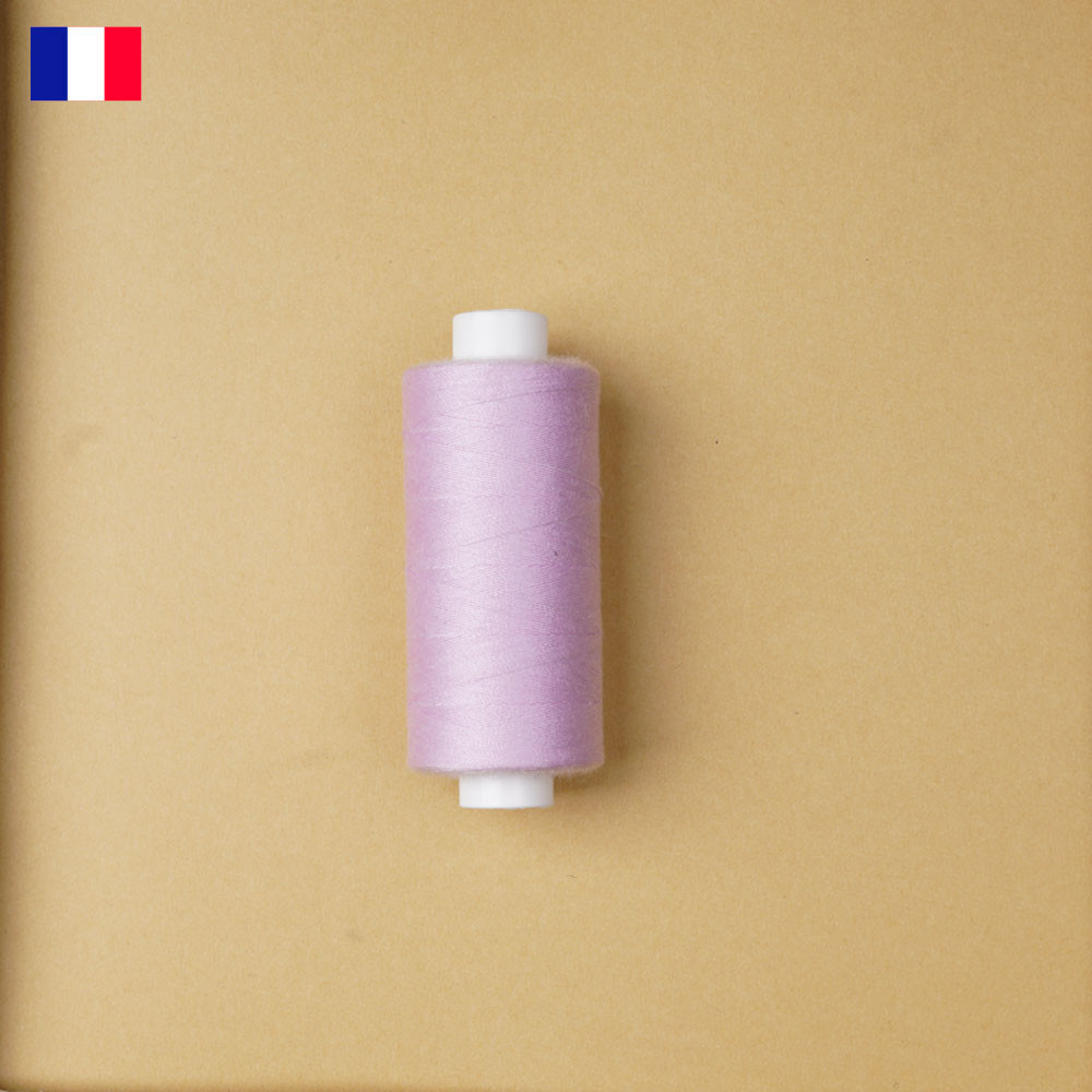 Fil à coudre pâle lilas ténacité 500 m | fabrication française | pretty Mercerie | Mercerie en ligne