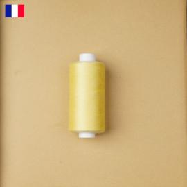 Fil à coudre jaune pastel ténacité 500 m   fabrication française   pretty Mercerie   Mercerie en ligne