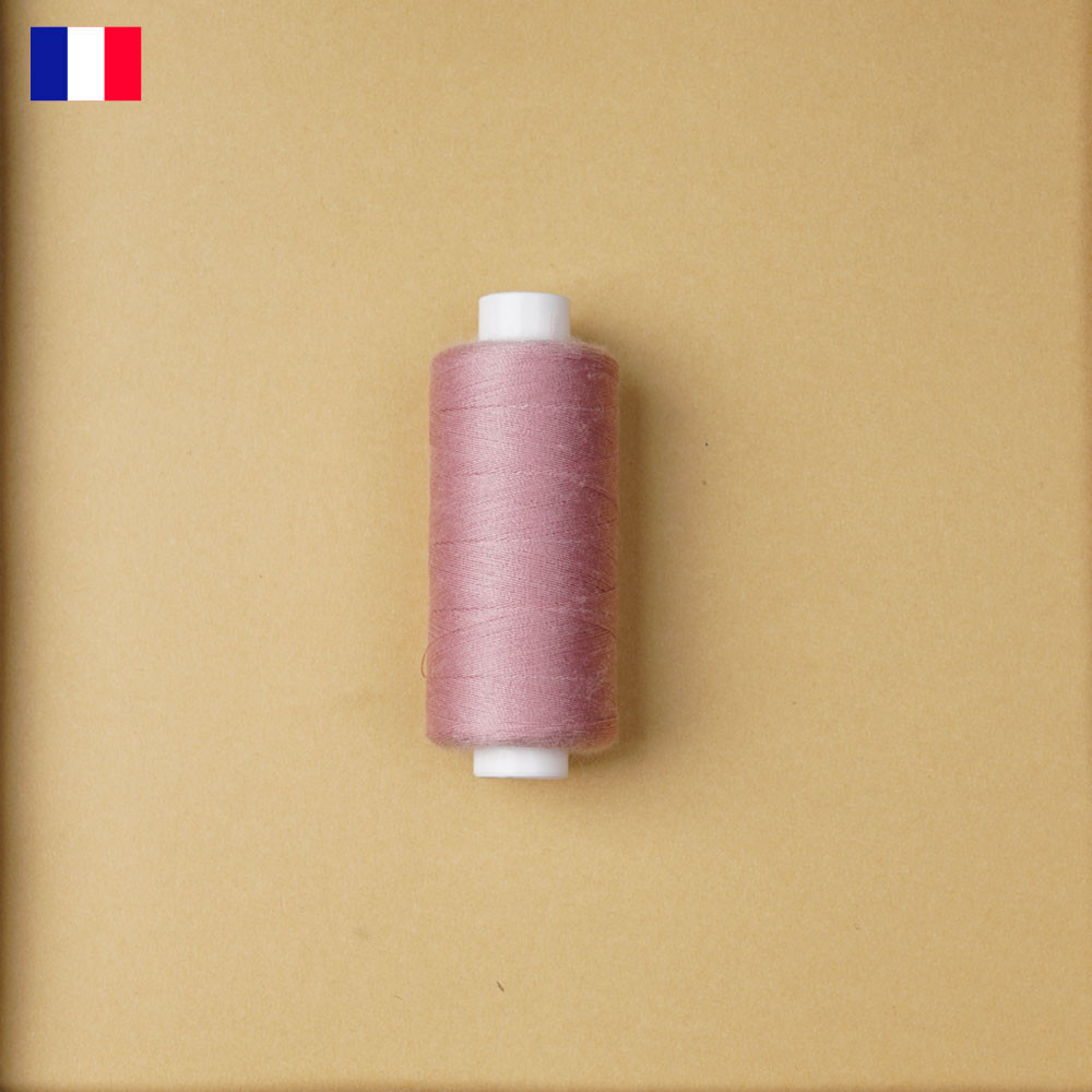 Fil à coudre rose blush ténacité 500 m   fabrication française   pretty Mercerie   Mercerie en ligne