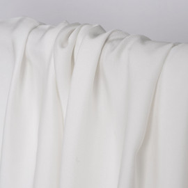 Tissu viscose Tencel et lin blanc   Pretty Mercerie   Mercerie en ligne