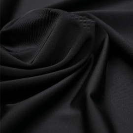 Tissu maillot de bain noir | Pretty Mercerie | Mercerie en ligne