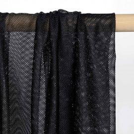 Tissu doublure filet / mesh noir pour maillot de bain homme | Pretty Mercerie | mercerie en ligne