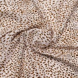 Tissu viscose crème à motif léopard chocolat et noir   Pretty mercerie   mercerie en ligne