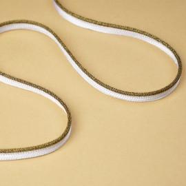 passepoil blanc à paillettes noir et or | Pretty Mercerie | mercerie en ligne