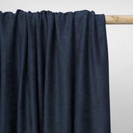 Tissu suédine bleu insignia | Pretty Mercerie | mercerie en ligne