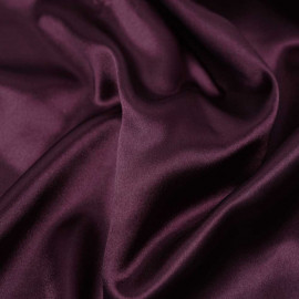 Tissu doublure satin polyester prune | pretty mercerie | mercerie en ligne