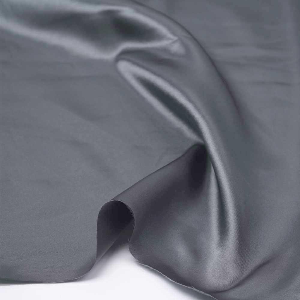 Tissu doublure satin polyester gris   pretty mercerie   mercerie en ligne