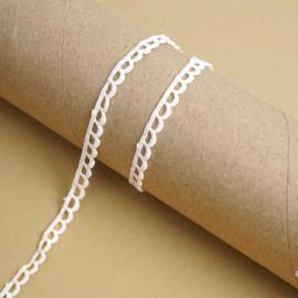 Ruban guipure blanc à motif petit éventail | pretty mercerie | mercerie en ligne