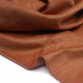 Tissu velours côtelé coton ginger   pretty mercerie   mercerie en ligne