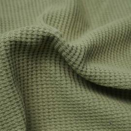 Tissu coton nid d'abeille pâle sauge | Pretty Mercerie | mercerie en ligne