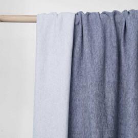 Tissu viscose pilou-pilou bleu chiné | Pretty Mercerie | mercerie en ligne