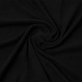 Tissu viscose pilou-pilou noir | Pretty Mercerie | mercerie en ligne