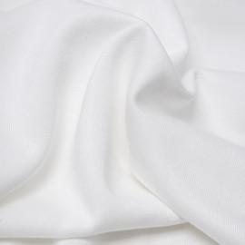 Tissu molleton de bambou et coton bio blanc | Pretty Mercerie | mercerie en ligne