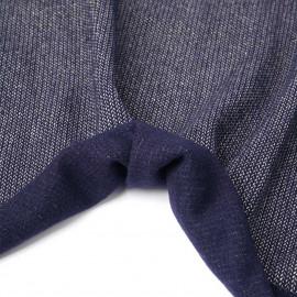 Tissu lainage bleu marine maille tissée chevron fils dorés | pretty mercerie | mercerie en ligne