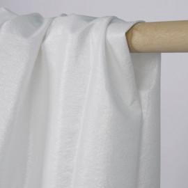 Tissu coton blanc à paillettes argenté | Pretty Mercerie | Mercerie en ligne
