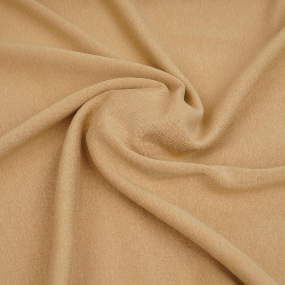 Tissu sweat gratté beige sable   Pretty Mercerie   mercerie en ligne