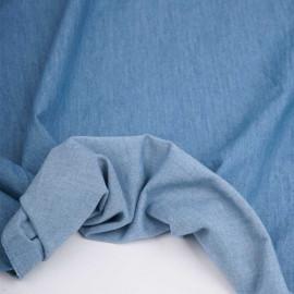 Tissu coton chambray bleu clair | Pretty Mercerie | mercerie en ligne