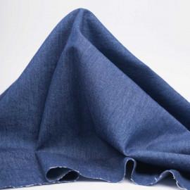 Tissu coton chambray bleu marine | Pretty Mercerie | mercerie en ligne