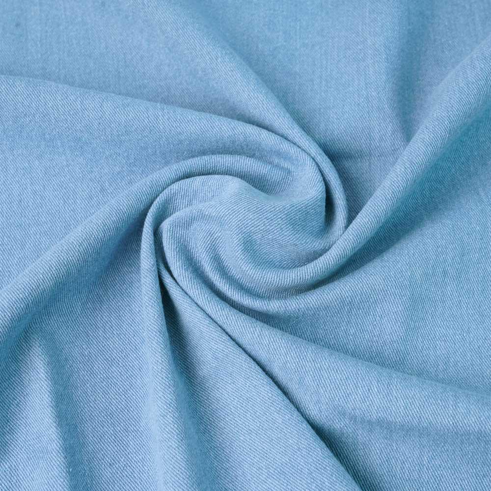 Tissu toile denim stretch bleu clair   pretty Mercerie   mercerie en ligne