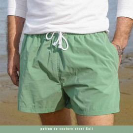 Tissu maillot de bain homme vert sauge  | Pretty Mercerie | mercerie en ligne