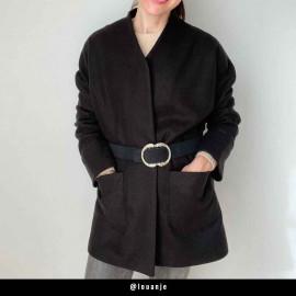 Tissu lainage noir   Pretty Mercerie   mercerie en ligne