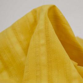 Tissu coton mimosa à motif lignes brodées et fil lurex doré | pretty mercerie | mercerie en ligne