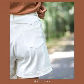 Tissu toile denim stretch blanc cassé   Pretty Mercerie   mercerie en ligne