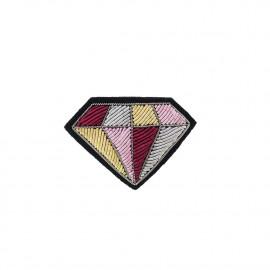 """Broches brodées """" Diamond """""""